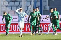 """Foto Filippo Rubin<br /> 21/11/2020 Ferrara (Italia)<br /> Sport Calcio<br /> Spal - Pescara - Campionato di calcio Serie B 2020/2021 - Stadio """"Paolo Mazza""""<br /> Nella foto: SALVATORE ESPOSITO (SPAL)<br /> <br /> Photo Filippo Rubin<br /> November 21, 2020 Ferrara (Italy)<br /> Sport Soccer<br /> Spal vs Pescara - Italian Football Championship League B 2020/2021 - """"Paolo Mazza"""" Stadium <br /> In the pic: SALVATORE ESPOSITO (SPAL)"""