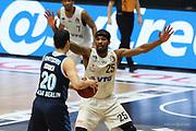 Basketball: Deutschland, 1. Bundesliga, Hamburg Towers -  Alba Berlin, Hamburg, 23.03.2021<br /> Simome Fonteccio (Alba, l.) - Terry Allen (Towers)<br /> © Torsten Helmke