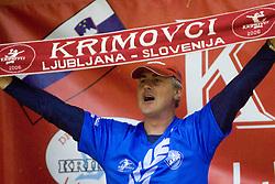 Fan of RK Krim at last 10th Round handball match of Slovenian Women National Championships between RK Krim Mercator and RK Olimpija, on May 15, 2010, in Galjevica, Ljubljana, Slovenia. Olimpija defeated Krim 39-36, but Krim became Slovenian National Champion. (Photo by Vid Ponikvar / Sportida)