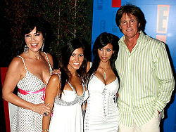 Aug. 1, 2005 - Hollywood, CALIFORNIA, USA - K44199MR.E! ENTERTAINMENT TELEVISION'S SUMMER SPLASH  TROPICANA BAR AT THE ROOSEVELT HOTEL,.HOLLYWOOD, CA. 08-01-05. MILAN RYBA/   2005. BRUCE JENNER WITH WIFE AND DAUGHTERS.(Credit Image: © Milan Ryba via ZUMA Wire)