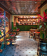 The bar at Jenny Yip's Miss Yip Chinese Café in South Beach was modeled on the decor of classic Hong Kong cafeterias.