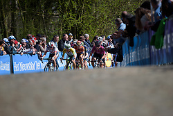 Kasia Niewiadoma & Katrin Garfoot on the front of the bunch on the second time up Kemmelberg at Women's Gent Wevelgem 2017. A 145 km road race on March 26th 2017, from Boezinge to Wevelgem, Belgium. (Photo by Sean Robinson/Velofocus)