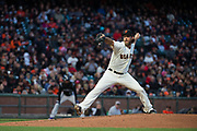 San Francisco Giants starting pitcher Madison Bumgarner (40) pitches against the Colorado Rockies at AT&T Park in San Francisco, California, on April 14, 2017. (Stan Olszewski/Special to S.F. Examiner)