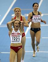 Photo: Rich Eaton.<br /> <br /> EAA European Athletics Indoor Championships, Birmingham 2007. 04/03/2007. Lidia Chojecka of Poland celebrates winning gold in the womens 3000m final