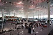 Inside Terminal Three of Beijing Capital International Airport, China