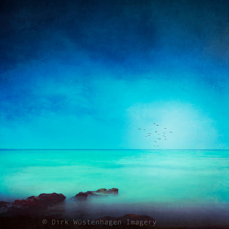 Dreamy view of the Mediterranean Sea near Cap de Pera, Mallorca - textured photograph<br /> Redbubble Prints: http://rdbl.co/2rXoUDL<br /> Society6 products: http://bit.ly/2qqlZBo