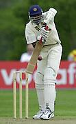 Shenley Middlesex Sri Lanka Tour Match<br /> Middlesex vs Sri Lanka <br /> Photo Peter Spurrier<br /> 11/05/2002<br /> Sport - Cricket - Middlesex vs Sri Lanka -Shenley:<br /> Sri Lanka No 9 Zoysaplaying a ball form  Bloomfield [Mandatory Credit:Peter SPURRIER;Intersport Images]