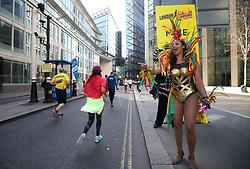 Spectators in costume during the 2019 London Landmarks Half Marathon.
