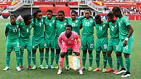 Fotball<br /> VM kvinner<br /> 07.06.2015<br /> Tyskland v Elfenbenskysten<br /> Foto: imago/Digitalsport<br /> NORWAY ONLY<br /> <br /> Startaufstellung, Mannschaftsbild, Gruppenbild, Mannschaft, Team, Elfenbeinküste, v.li.: Sophie Aguie (CIV), Rita Akaffou (CIV), Fatou Coulibaly (CIV), Nina Kpaho (CIV), Nadege Essoh (CIV), Rebecca Elloh (CIV), Raymonde Kacou (CIV), Binta Diakite (CIV), Ida Guehai (CIV), Josee Nahi (CIV), vorne: Dominique Thiamale (Torwart, CIV)<br /> Lagbilde Elfenbenskysten