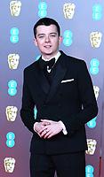 Asa Butterfield, EE British Academy Film Awards, Royal Albert Hall, London, UK, 02 February 2020, Photo by Richard Goldschmidt
