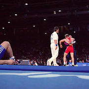A panoramic image of the Wrestling competition at Sydney Olympic Park during the 2000 Sydney Olympic Games...Panoramic images from the Sydney Olympic Games, Sydney, Australia. 2000 . Photo Tim Clayton
