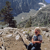 A youngster enjoys the setting in Big Pine Canyon.