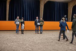 Apache, Preferent, Scholtens Emmelie, Valk Ad, Van der Koppel A, NED<br /> Fotodag KWPN Hengstenkeuring 2021<br /> © Hippo Foto - Dirk Caremans<br /> 06/01/2021