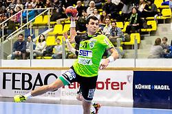 23.02.2018, BSFZ Suedstadt, Maria Enzersdorf, AUT, HLA, SG INSIGNIS Handball WESTWIEN vs Bregenz Handball, Bonus-Runde, 3. Runde, im Bild Gabor Hajdu (SG INSIGNIS Handball WESTWIEN) // during Handball League Austria, Bonus-Runde, 3 rd round match between SG INSIGNIS Handball WESTWIEN and Bregenz Handball at the BSFZ Suedstadt, Maria Enzersdorf, Austria on 2018/02/23, EXPA Pictures © 2018, PhotoCredit: EXPA/ Sebastian Pucher