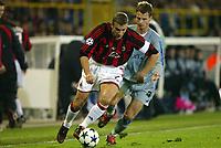 Fotball, 4. november 2003, Champions League,, Club Brugge ( Brügge )-Milan 0-1, Andriy Shevchenko, Miland og  David Rozehnal, Brugge