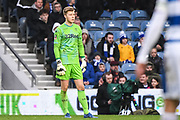 Leeds United Goalkeeper Bailey Peacock-Farrell (1) during the The FA Cup match between Queens Park Rangers and Leeds United at the Loftus Road Stadium, London, England on 6 January 2019.