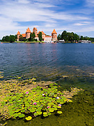 View of Trakai Castle, one of LIthuania's most famous historical landmarks.