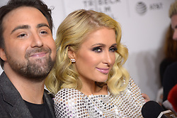 Bert Marcus, Paris Hilton attending the premiere of the movie American Meme during the 2018 Tribeca Film Festival at Spring Studios in New York City, NY, USA on April 27, 2018. Photo by Julien Reynaud/APS-Medias/ABACAPRESS.COM