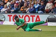 Stuart Thompson of Ireland in the field during the One Day International match between England and Ireland at the Brightside County Ground, Bristol, United Kingdom on 5 May 2017. Photo by Andrew Lewis.