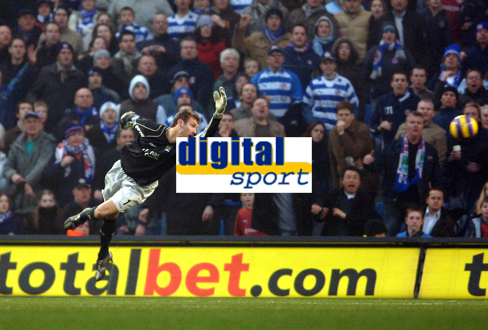 Photo: Paul Greenwood.<br />Man City v Reading. The Barclays Premiership. 03/02/2007. Man City's substitute keeper Andreas Isaksson is beaten by Leroy Lita's shot for the first Reading goal