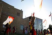 Shadow Drum and Bugle Corps performs in Dubuque, Iowa on July 12, 2019. <br /> <br /> Beth Skogen Photography - www.bethskogen.com
