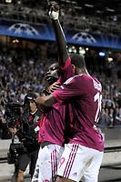 FOOTBALL - UEFA CHAMPIONS LEAGUE 2011/2012 - GROUP STAGE - GROUP D - OLYMPIQUE LYONNAIS v DINAMO ZAGREB - 27/09/2011 - PHOTO JEAN MARIE HERVIO / DPPI - JOY BAFETIMBI GOMIS (OL) AFTER HIS GOAL