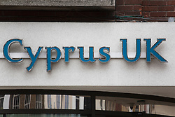 © licensed to London News Pictures. London, UK. 25/03/2013. A branch of Bank of Cyprus UK in central London on Monday 25 March 2013. Depositors in the Bank of Cyprus will reportedly lose 30 percent on their holdings above 100,000 euros according to the chairman of the Cypriot parliamentary finance committee. Photo credit: Tolga Akmen/LNP