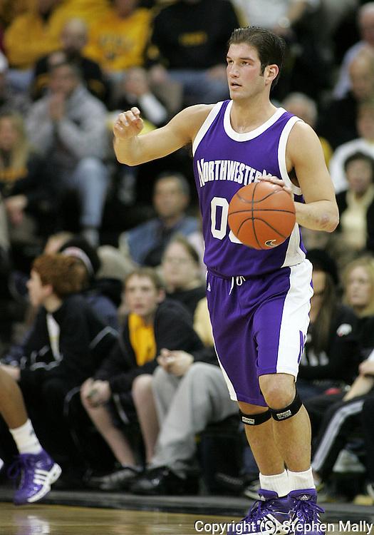 15 FEBRUARY 2007: Northwestern guard/foward Tim Doyle (00) in Iowa's 66-58 win over Northwestern at Carver-Hawkeye Arena in Iowa City, Iowa on February 15, 2007.