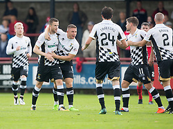 Inverness Caledonian Thistle's Iain Vigurs (11) cele scoring their first goal. Half time : Brechin City 0 v 2 Inverness Caledonian Thistle, Scottish Championship game played 26/8/2017 at Brechin City's home ground Glebe Park.
