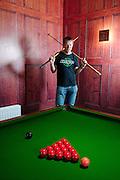Hope boss Ian Weatherall in the new company leisure room. Brnoldswick, Lancashire.