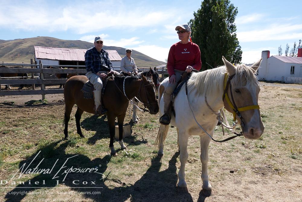 Horseback riding at the ranch in El Calafate, Patagonia, Argentina.