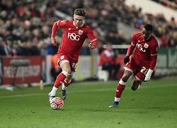 Wes Burns of Bristol City drives forward with the ball  - Mandatory byline: Joe Meredith/JMP - 19/01/2016 - FOOTBALL - Ashton Gate - Bristol, England - Bristol City v West Brom - FA Cup Third Round