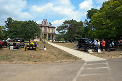 04 August 2012:  David Davis Mansion during the McLean County Antique Automobile Club Show at the David Davis Mansion, Bloomington IL This image was produced in part utilizing High Dynamic Range (HDR) or panoramic stitching or other computer software manipulation processes. It should not be used editorially without being listed as an illustration or with a disclaimer. It may or may not be an accurate representation of the scene as originally photographed and the finished image is the creation of the photographer.