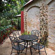Cafe at the St Nicholas Abbey Sugar Cane Plantation and Rum Distillery in Saint Peter, Barbados