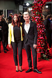 © Licensed to London News Pictures. 13/02/2014. London, UK. Amy Childs and Charlie Mills as they attend during A New York Winter's Tale premiere outside the Odeon Kensington. Photo credit : Andrea Baldo/LNP
