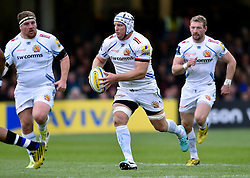 Thomas Waldrom of Exeter Chiefs goes on the attack - Mandatory byline: Patrick Khachfe/JMP - 07966 386802 - 17/10/2015 - RUGBY UNION - The Recreation Ground - Bath, England - Bath Rugby v Exeter Chiefs - Aviva Premiership.