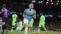 Football - 2018 / 2019 UEFA Champions League - Round of Sixteen, Second Leg: Manchester City (3) FC Schalke 04 (2)<br /> <br /> Phil Foden of Manchester City celebrates at The Etihad.<br /> <br /> COLORSPORT/LYNNE CAMERON