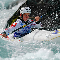 03.06.2018; Muotathal; Wassersport - Kanu WM 2018- ICF Wildwater Canoeing World Championships; Janis Amstad (SUI) Vorfahrer (Andy Mueller/freshfocus)