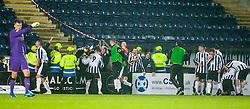 Fraserburgh fans cele after their goal. Falkirk 4 v 1 Fraserburgh, Scottish Cup third round, played 28/11/2015 at The Falkirk Stadium.
