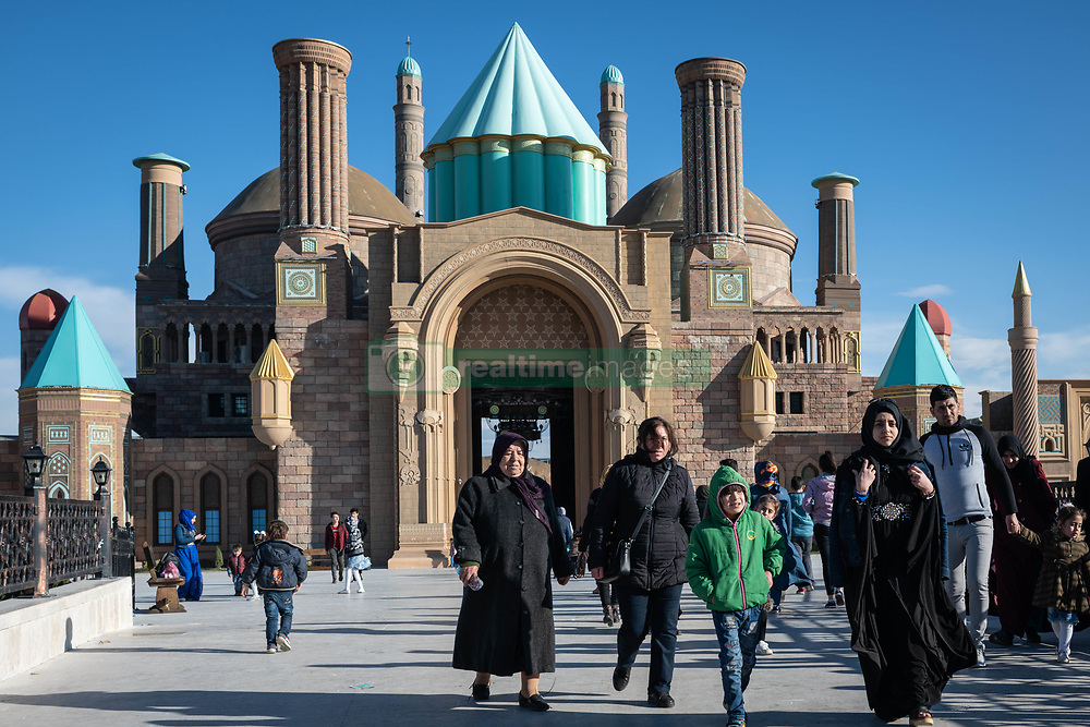 March 30, 2019 - Ankara, Turkey - On 30 March 2019, children and families entered the front gates of Wonderland Eurasia, a new amusement park in Ankara, Turkey, which integrates architectural landmarks from Anatolia's cultural heritage into a wide range of attractions and theme park rides. (Credit Image: © Diego Cupolo/NurPhoto via ZUMA Press)