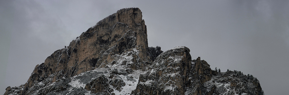 The summit of Sass de Stria in the Dolomites, Italy.
