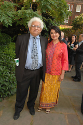 LORD & LADY DESAI at the 21st annual Macmillan Cancer Support Parliamentary Tug of War held in Westminster College Gardens, London on 10th June 2008.<br />