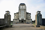 Nederland, Radio Kootwijk, 19-11-2009Het voormalig zendergebouw, radiostation. De bouw begon in augustus 1920. Afgebouwd in 1922. Architekt Jules Luthmann, architectuur van de Amsterdamse school. Dienst landelijke gebieden.Foto: Flip Franssen/Hollandse Hoogte