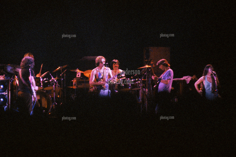 The Grateful Dead in Concert at Raceway Park, Englishtown NJ on 3 September 1977. Labor Day Weekend. View from about 200 feet back from stage, offset stage right.
