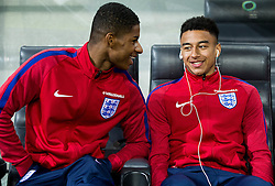 Marcus Rashford and Jesse Lingard during pitch check of Team England 1 day before football match between National teams of Slovenia and England in Round #3 of FIFA World Cup Russia 2018 qualifications in Group F, on October 10, 2016 in SRC Stozice, Ljubljana, Slovenia. Photo by Vid Ponikvar / Sportida