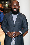 """April 3, 2017- Brooklyn, New York -United States: Visual Artist Derrick Adams attends the The Seventh Annual Brooklyn Artists Ball honoring Alicia Keys and Kasseem """"Swiss Beatz"""" Dean held at the Brooklyn Museum on April 3, 2017 in Brooklyn, New York. The Brooklyn Artist Ball is the largest annual fundraising gala at the Brooklyn Museum, which celebrates Brooklyn's creative community and supports the institution's many programs. (Terrence Jennings/terrencejennings.com)"""