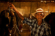 """Jose Jaèn, 93 years old, """"Goio"""" for friend, is  still competing in lazo tournaments."""