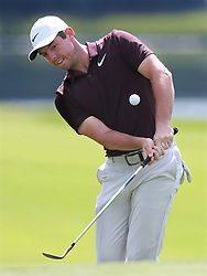 September 20, 2018 - Atlanta, GA, USA - Rory McIlroy chips to the eighth green during the first round of the Tour Championship at East Lake Golf Club on Thursday, Sept. 20, 2018, in Atlanta, Ga. (Credit Image: © Curtis Compton/Atlanta Journal-Constitution/TNS via ZUMA Wire)