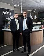Giuliano Gaiba, direttore della sezione new concept e Rosario Ambrosino, a.d. del gruppo Elior. L'azienda è leader nel settore della ristorazione collettiva.