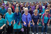 Adults choir, made from choirs from all over the region, perform at The Scoop. Totally Thames takes place over the whole month in September, combining arts, cultural and river events presented by Thames Festival Trust throughout the 42-mile stretch of the River Thames in London, UK.